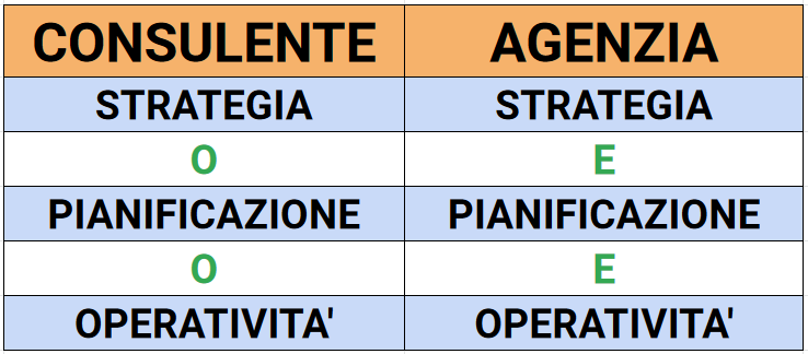 Consulente Digital VS Agenzia Digital